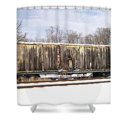 Shower Curtain featuring the photograph Burnt by Sara  Raber