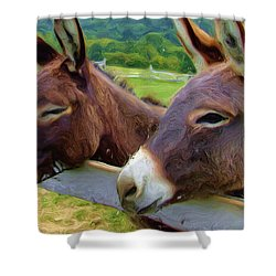 Burro Gang Shower Curtain by Ayse Deniz