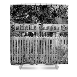 Burying Ground Shower Curtain by Cynthia Guinn