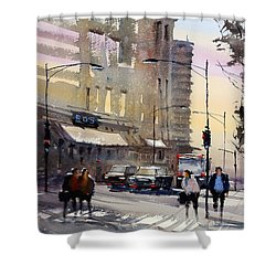 Bus Stop - Chicago Shower Curtain