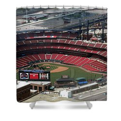 Busch Memorial Stadium Shower Curtain by Thomas Woolworth