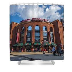 Busch Stadium Clouds Shower Curtain