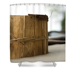 Bushel Basket Shower Curtain by Rebecca Sherman