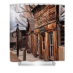 Shower Curtain featuring the photograph Business Block by Sue Smith