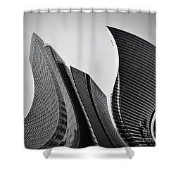 Business Skyscrapers Abstract Conceptual Architecture Shower Curtain by Michal Bednarek