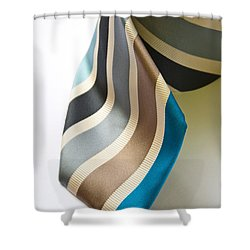 Business Tie Shower Curtain by Tim Hester
