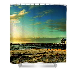 Busselton Jetty Shower Curtain by Yew Kwang