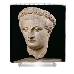 Bust Of Emperor Claudius Shower Curtain by Anonymous