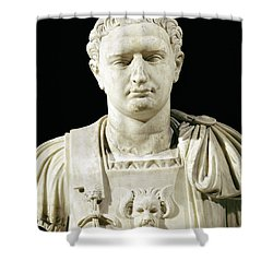 Bust Of Emperor Domitian Shower Curtain by Anonymous