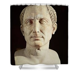 Bust Of Julius Caesar Shower Curtain by Anonymous