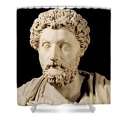 Bust Of Marcus Aurelius Shower Curtain by Anonymous