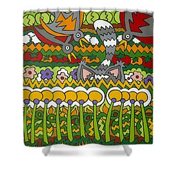 Busted Shower Curtain by Rojax Art