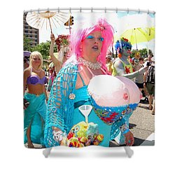 Shower Curtain featuring the photograph Busty Mermaid by Ed Weidman