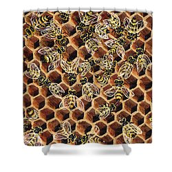 Busy Bee 2 Shower Curtain