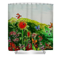 Busy Bee Garden Shower Curtain