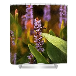 Busy Bee Shower Curtain by Richard Rizzo
