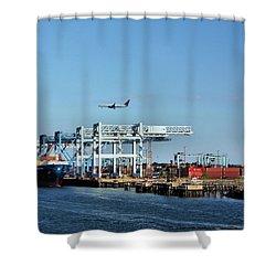 Busy Boston Shower Curtain by Kristin Elmquist