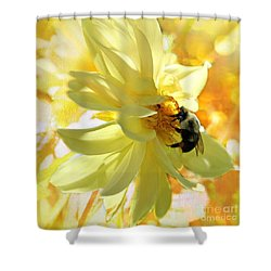 Busy Bumble Bee Shower Curtain
