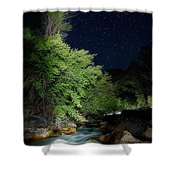 Shower Curtain featuring the photograph Busy Night by David Andersen