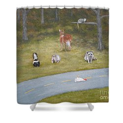 But Why? Shower Curtain