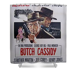 Butch Cassidy And The Sundance Kid Shower Curtain by Georgia Fowler