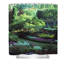Butchard Gardens Vancouver Island Shower Curtain by Bob Christopher