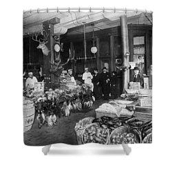 Butcher Shop, C1900 Shower Curtain