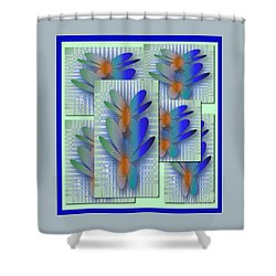 Butterflies 2 Shower Curtain by Iris Gelbart