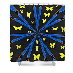 Butterflies Galore Shower Curtain by Karol Livote