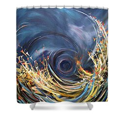 Butterflies Migration Shower Curtain by Dorothy Maier