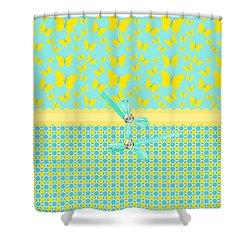 Butterflies Sun Shower Curtain by Debra  Miller
