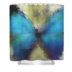 Butterfly Art - Ab0101a Shower Curtain by Variance Collections
