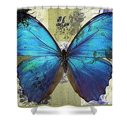 Butterfly Art - S01bfr02 Shower Curtain by Variance Collections
