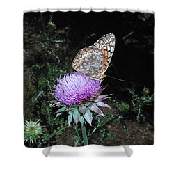 Butterfly At Peace Shower Curtain