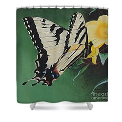 Butterfly At Work Shower Curtain