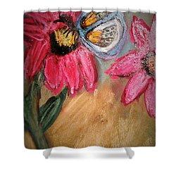 Butterfly Breakfast Shower Curtain