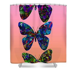 Shower Curtain featuring the photograph Butterfly Collage IIII by Robert Meanor