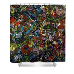 Shower Curtain featuring the photograph Butterfly Collage by Robert Meanor