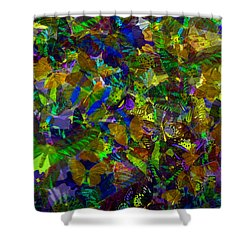 Shower Curtain featuring the photograph Butterfly Collage Yellow by Robert Meanor