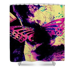 Shower Curtain featuring the photograph Butterfly Disintegration  by Jessica Shelton