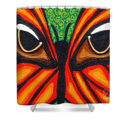 Butterfly Eyes Shower Curtain by Genevieve Esson