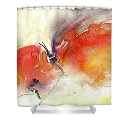 Shower Curtain featuring the painting Butterfly by Faruk Koksal