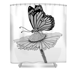 Shower Curtain featuring the digital art Butterfly Friends by Carol Jacobs