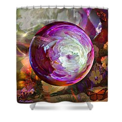 Butterfly Garden Globe Shower Curtain