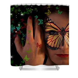 Butterfly Girl Shower Curtain by Nathan Wright