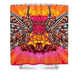 Butterfly Jig Shower Curtain