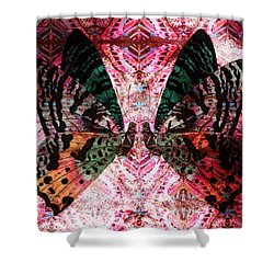 Shower Curtain featuring the digital art Butterfly Kaleidoscope by Kyle Hanson