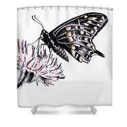 Butterfly Shower Curtain by Katharina Filus