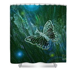 Butterfly Magic By Jrr Shower Curtain by First Star Art