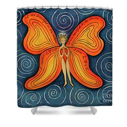 Butterfly Mantra Shower Curtain